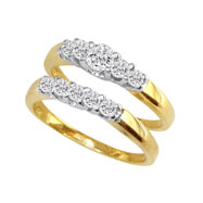 14K Two-Tone Gold 1/2ct Diamond Bridal Ring Set