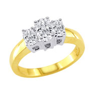 14K Yellow Gold 1ct Diamond Oval Ring G-H VS-SI1