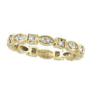 14K Yellow Gold .36ct Diamond Stackable Eternity Band