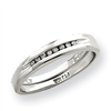 10k White Gold Diamond Wedding Band ring