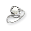 14k White Gold 5.5mm Pearl Ring