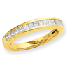 14k A Quality Complete Diamond Wedding Band ring
