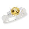 Sterling Silver Citrine ring