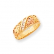 10k Tri-color Black Hills Gold Mens .06ct. Diamond Wedding Band