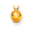14k 8mm Citrine pendant