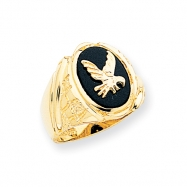 14k Men's Onyx Eagle Ring