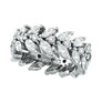 18K White Gold Marquise 4.02ct Diamond Eternity Floral Leaf Ring Band SI1-SI2 G-H