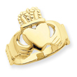 14K Gold Ladies Claddagh Ring