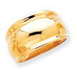 14K Gold Polished Dome Ring