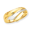 14K Two-Tone Gold Polished Wave Ring