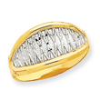 14K Gold & Rhodium X Ring