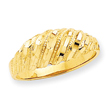 14K Gold Diamond Cut Dome Ring