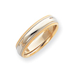 14k Two-Tone Gold 5.5mm Milgrained-Edged  Wedding Band