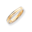 14k Two-Tone Gold 4mm Ridged Wedding Band