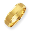 14K Gold 6mm Brushed And Polished Wedding Band