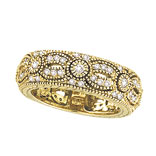 18K Yellow Gold .87ct Diamond Eternity Ring Band SI1-SI2 G-H