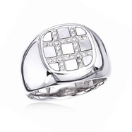 Fancy Shape Shell Men's Diamond Ring