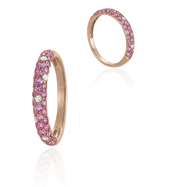 14K Rose Gold Pink Sapphire And Diamond Ring